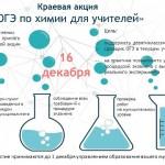 Баннер акции ОГЭ по химии для учителей