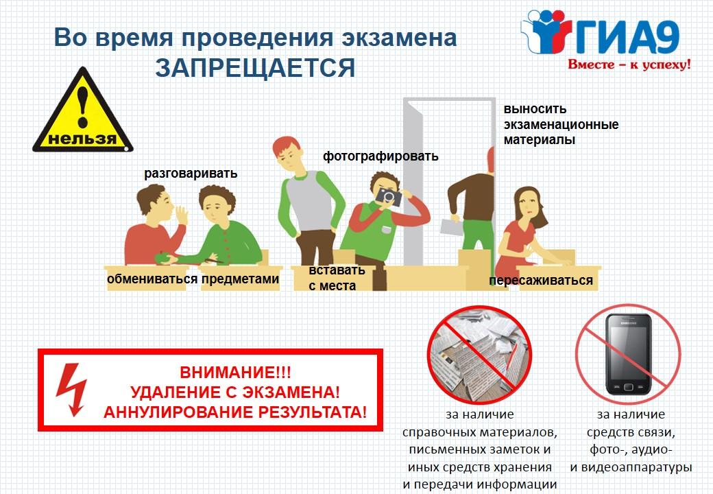 О правилах поведения во время экзамена_альбомная